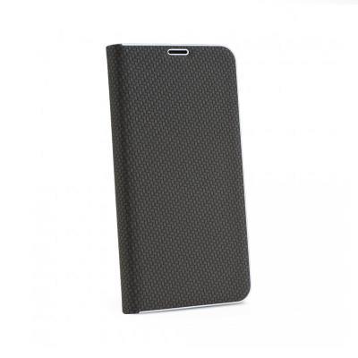 Capa Flip Cover Luna Carbon Huawei P Smart 2019 Premium Preta