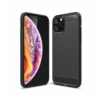 Silicone Cover Forcell Carbon Apple iPhone 11 Black