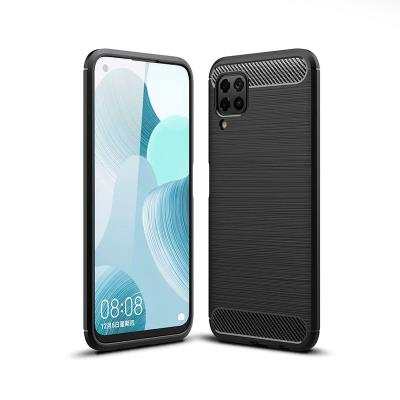 Funda Silicona Forcell Carbon Huawei P40 Lite Negra