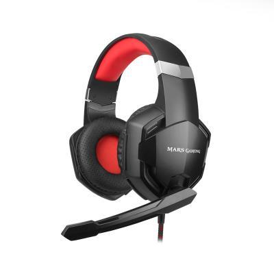 Headset Gaming Mars MHX Preto/Vermelho