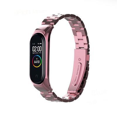 Steel Bracelet Xiaomi Mi Band 3/4 Pink