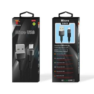 Cable de Datos Resistente LT Plus Micro USB Negro