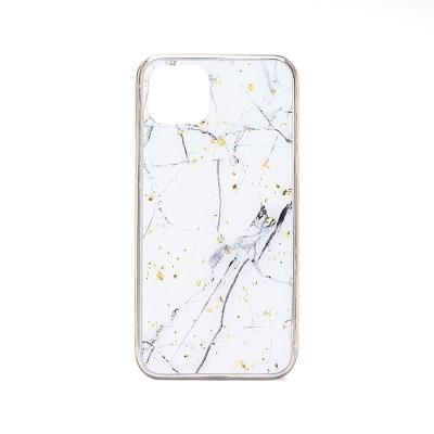 Silicone Protective Cover Marble iPhone 11 Pro White