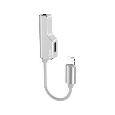 Adapter Remax Lightning para Lightning e Jack 3.5mm White