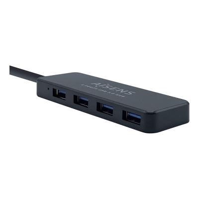 Hub USB Aisens 4 Portas USB 3.0 Preto