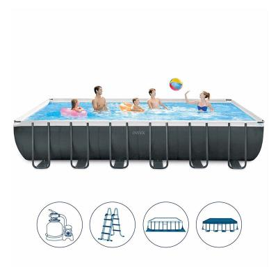 Pool Intex Ultra XTR Frame 732x366x132 cm + Cleaning Kit w/Sand Pump (26368NP)