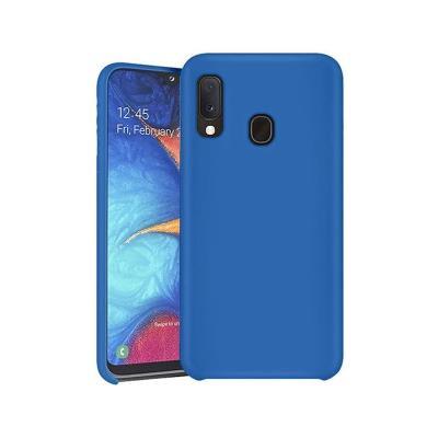 Capa Silicone Premium Samsung Galaxy A20e A202 Azul Turquesa