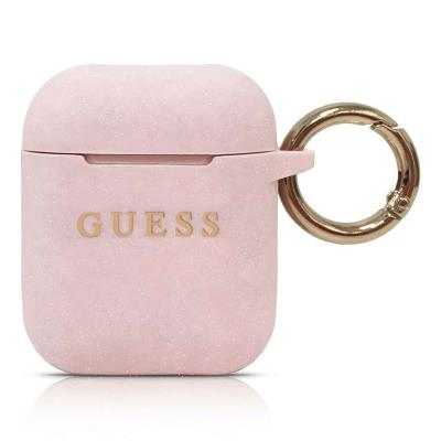 Silicone Cover Guess Apple Airpods Pink