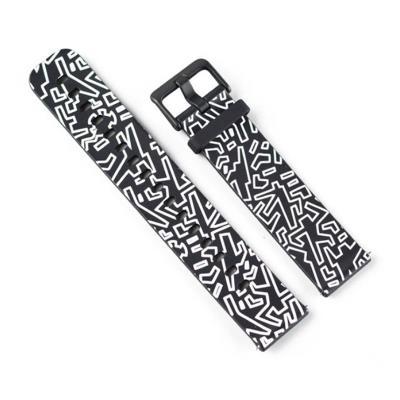 Silicone Bracelet Xiaomi Amazfit Bip Black/White