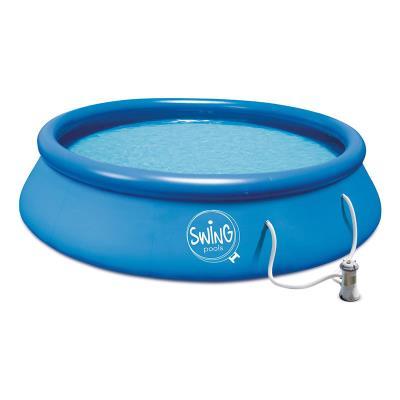 Inflatable Pool Swing 300x76cm w/Filter Pump Refurbished