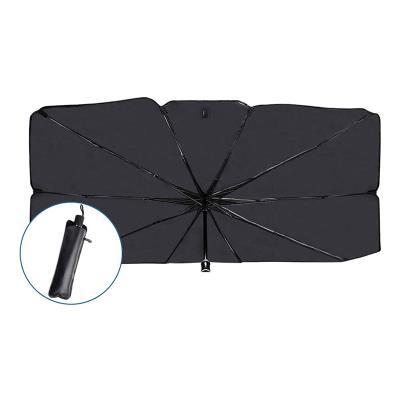 Parasol for Car Interior 65x110x36 cm Black/Aluminum