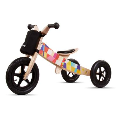 Balance Bike Twist Black Mosaic 2 in 1 Wood
