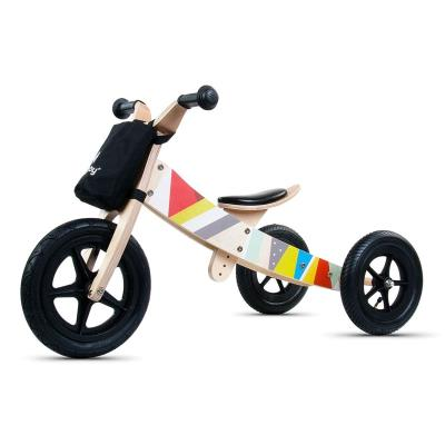 Balance Bike Twist Classic Black 2 in 1 Wood