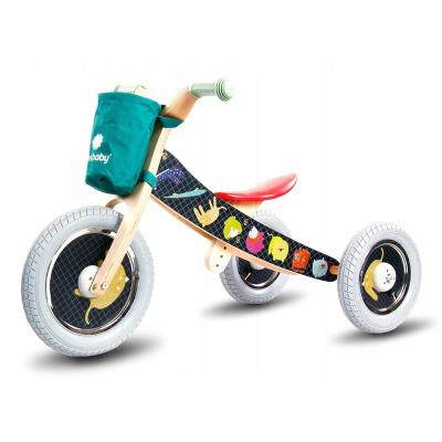 Balance Bike Twist Safari Black 2 in 1 Wood