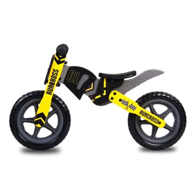 Balance Bike RunCross Wood Black/Yellow