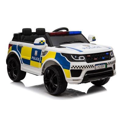 Coche eléctrico Polícia 12V Blanco