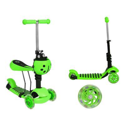 Scooter Kruzzel 3 Wheels LED 2 in 1 Green