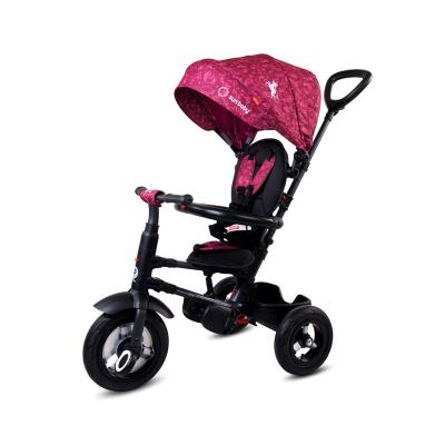 Folding Tricycle Qplay Rito Air Wheels Wine