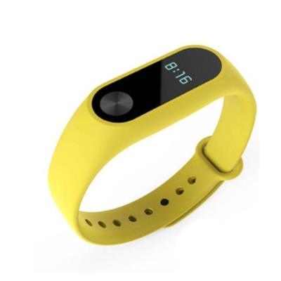 SILICONE BRACELET FOR XIAOMI MY BAND 2 YELLOW