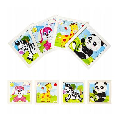 Puzzle Wood Jungle Animals