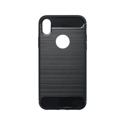 Silicone Carbon Cover Forcell iPhone XR Black