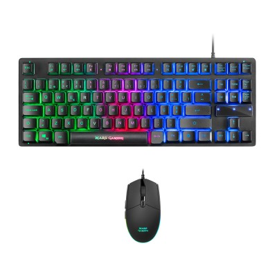 Keyboard + Mouse Mars Gaming MCPTKL 2 in 1 RGB Black