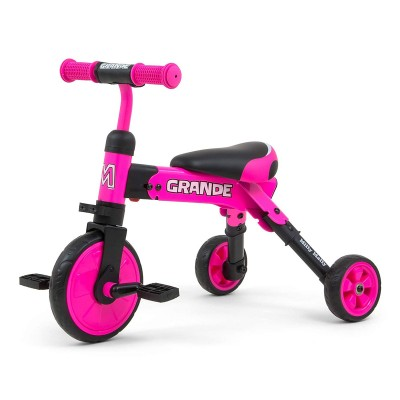 Tricycle Milly Mally Ride On - Bike 2in1 Pink