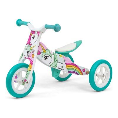 Balance Bike Milly Mally Unicorn 2 em 1 Madeira
