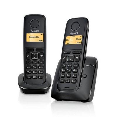 Telefone Fixo Siemens Gigaset A170 Duo Preto
