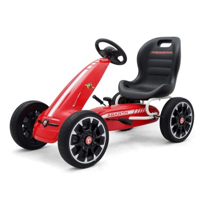 Car Pedals Milly Mally GoKart Abarth Red