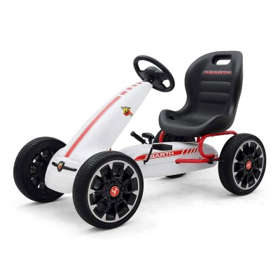 Car Pedals Milly Mally GoKart Abarth White