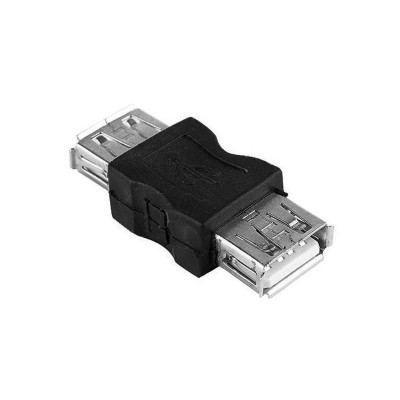 Adapter USB F to USB F Black