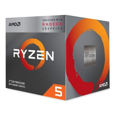 Processor AMD Ryzen 5 3400G 4-Core 3.7GHz c/Turbo 4.2GHz AM4
