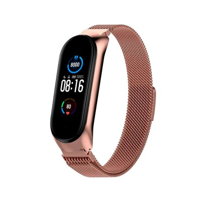 Metal Bracelet Xiaomi Mi Band 5 Rose Gold