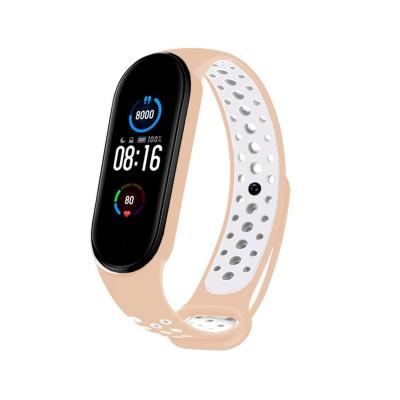 Sport Silicone Wristband Xiaomi Mi Band 5 Pink