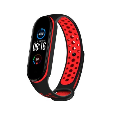 Sport Silicone Wristband Xiaomi Mi Band 5 Black/Red
