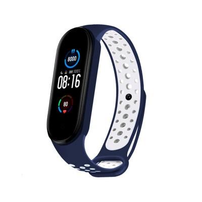 Sport Silicone Wristband Xiaomi Mi Band 5 Blue