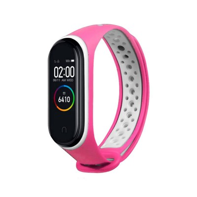 Sport Silicone Wristband Xiaomi Mi Band 3/4 Pink