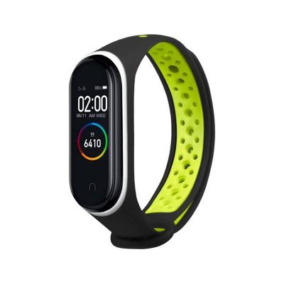 Sport Silicone Wristband Xiaomi Mi Band 3/4 Black/Green