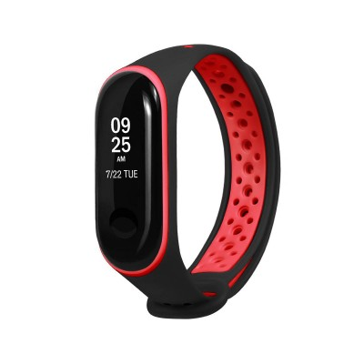 Sport Silicone Wristband Xiaomi Mi Band 3/4 Black/Red
