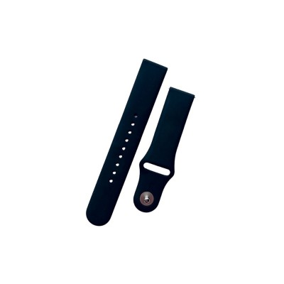Universal Silicone Wristband 20 mm Black