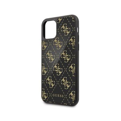 Funda Rígida Brillante Guess iPhone 11 Pro Negra/Dorada