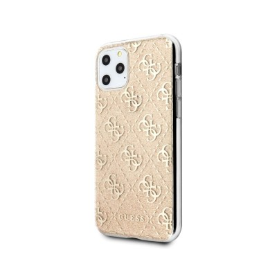 Hard Cover Bright Guess iPhone 11 Pro Transparent/Gold