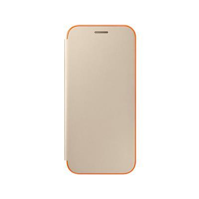 Original Neon Flip Cover Case Samsung A5 2017 Gold (EF-FA520PFE)