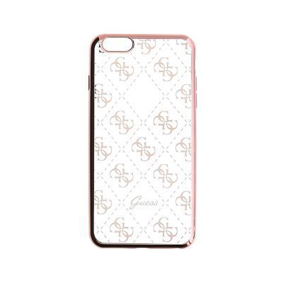 Funda Silicona Guess iPhone 5/SE Rosa Dorado (GUHCPSETR4GRG)