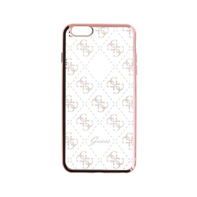Guess Silicone Case iPhone 5/SE Rose Gold (GUHCPSETR4GRG)