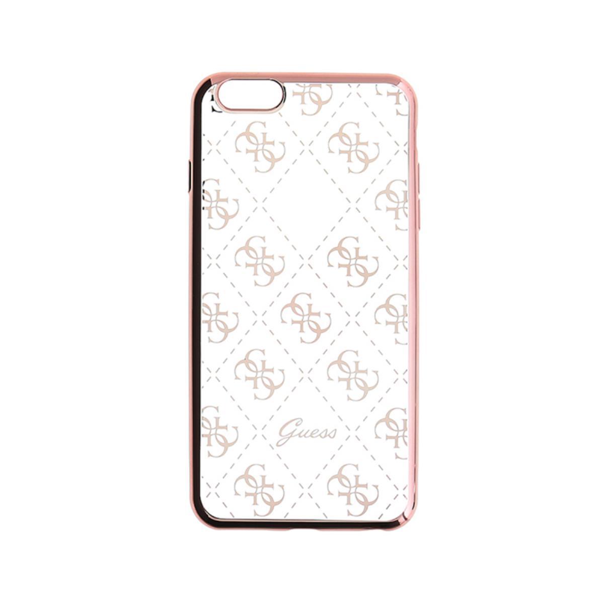 960353acd40 Compre online Funda Silicona Guess iPhone 5/SE Rosa Dorado (GUHCPSETR4GRG)