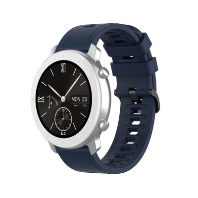 Bracelete Silicone Universal Smartwatch 22mm Azul