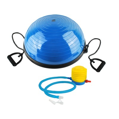 Gym Ball with BOSU Lines Blue