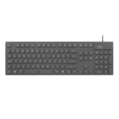 Teclado 1Life kb:cleanboard Silicone PT Preto